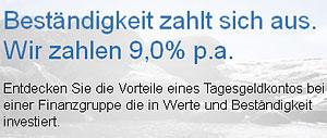 Eurokasse bietet 9% Tagesgeld-Zinsen